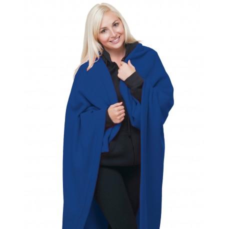 BA9000 Bayside BA9000 Polyester Stadium Fleece Blanket ROYAL BLUE