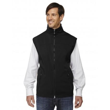 88127 North End 88127 Men's Three-Layer Light Bonded Performance Soft Shell Vest BLACK 703