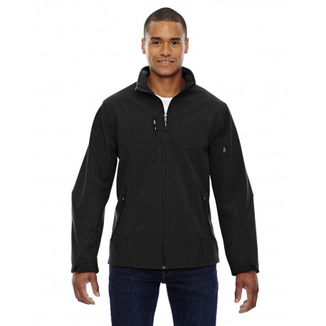 88156 North End 88156 Men's Compass Colorblock Three-Layer Fleece Bonded Soft Shell Jacket BLACK 703