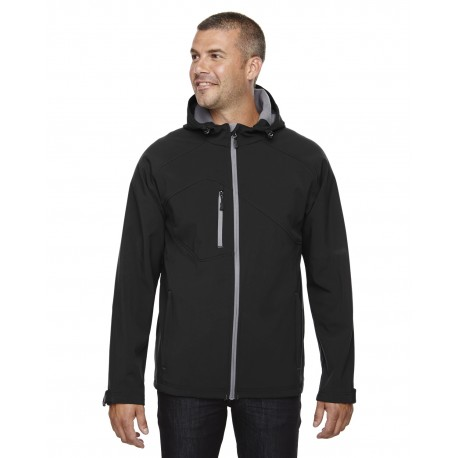 88166 North End 88166 Men's Prospect Two-Layer Fleece Bonded Soft Shell Hooded Jacket BLACK 703