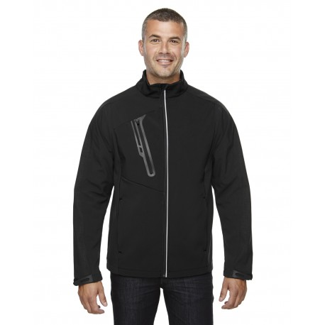88176 North End 88176 Men's Terrain Colorblock Soft Shell with Embossed Print BLACK 703