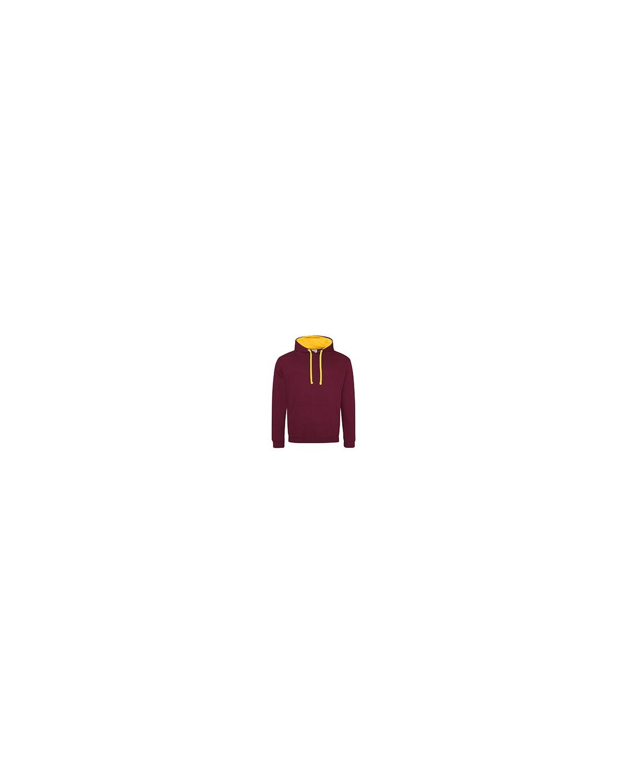 JHA003 Just Hoods By AWDis BURGUNDY/ GOLD