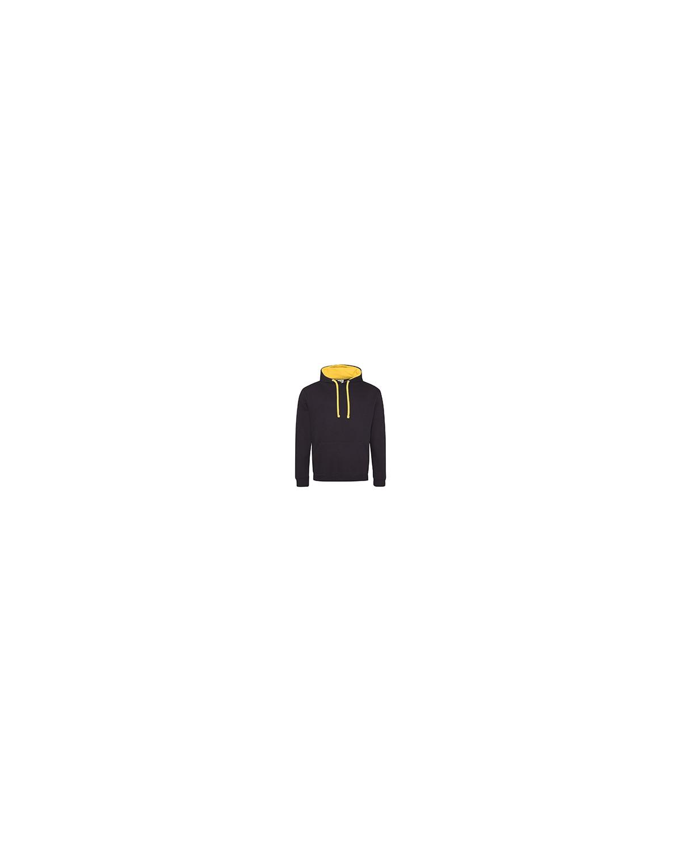 JHA003 Just Hoods By AWDis JET BLACK/ GOLD