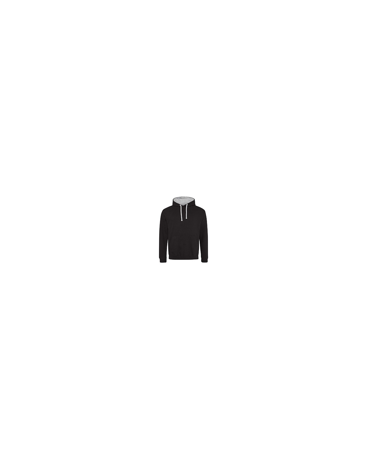 JHA003 Just Hoods By AWDis JET BLK/ HTH GRY