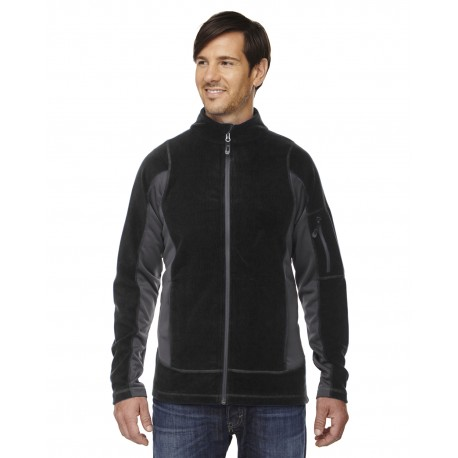 88198 North End 88198 Men's Generate Textured Fleece Jacket BLACK 703