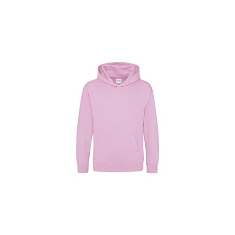 JHY001 Just Hoods By AWDis JHY001 Youth 80/20 Midweight College Hooded Sweatshirt BABY PINK