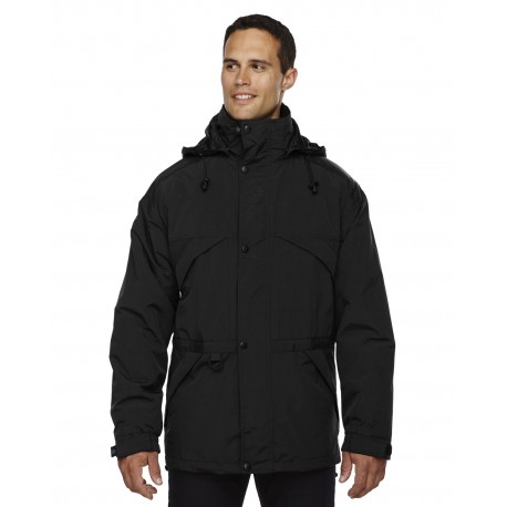 88007 North End 88007 Adult 3-in-1 Parka with Dobby Trim BLACK 703