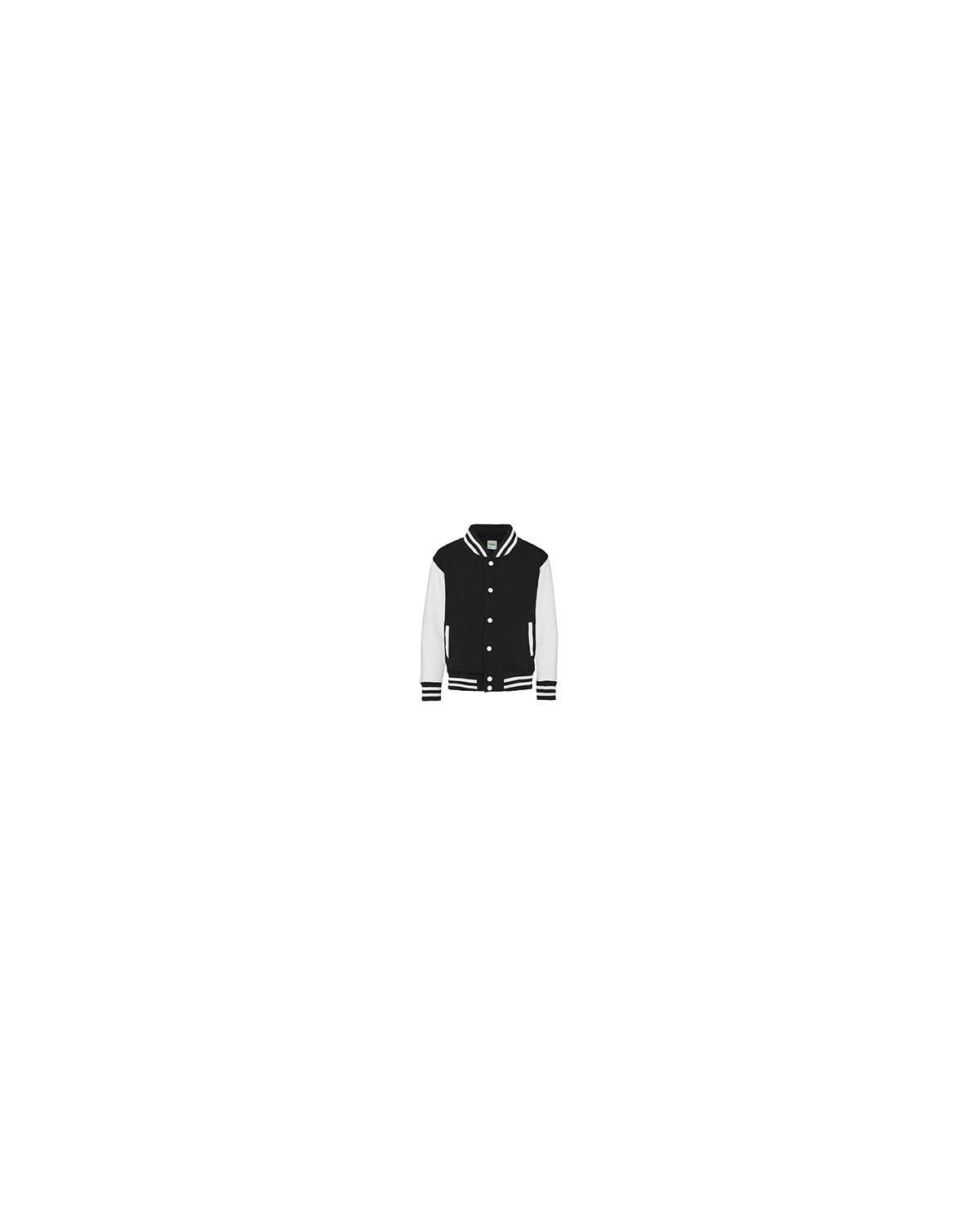JHY043 Just Hoods By AWDis JET BLACK/ WHITE