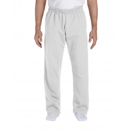 G123 Gildan G123 Adult DryBlend Adult 9 oz., 50/50 Open-Bottom Sweatpants ASH