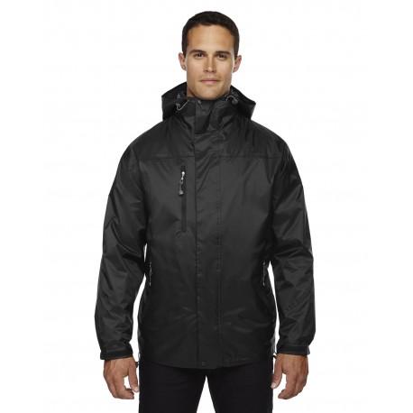 88120 North End 88120 Adult Performance 3-in-1 Seam-Sealed Hooded Jacket BLACK 703