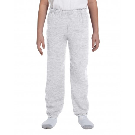 G182B Gildan G182B Youth Heavy Blend 8 oz., 50/50 Sweatpants ASH