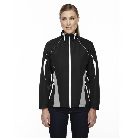 78644 North End 78644 Ladies' Impact Active Lite Colorblock Jacket BLACK 703