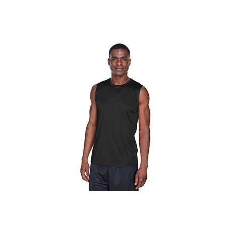 TT11M Team 365 TT11M Men's Performance Muscle T-Shirt BLACK