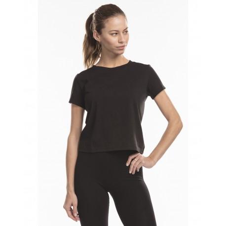 US521 US Blanks US521 Ladies' Short Sleeve Crop T-Shirt BLACK