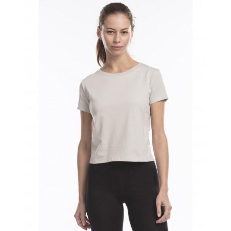 US521 US Blanks US521 Ladies' Short Sleeve Crop T-Shirt SILVER