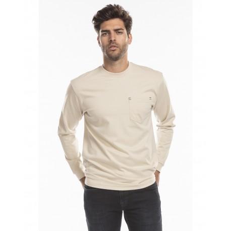 US5544 US Blanks US5544 Men's Flame Resistant Long Sleeve Pocket T-Shirt SAND