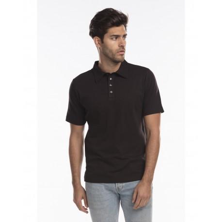 US5580 US Blanks US5580 Men's Jersey Interlock Polo T-Shirt BLACK