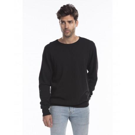 US8000G US Blanks US8000G Men's Garment-Dyed Heavy French Terry Crewneck Sweatshirt BLACK