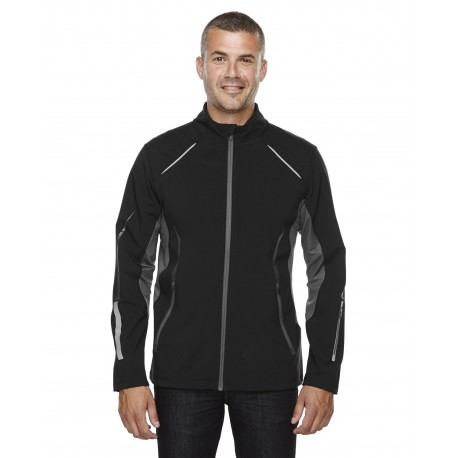 88678 North End 88678 Men's Pursuit Three-Layer Light Bonded Hybrid Soft Shell Jacket with Laser Perforation BLACK 703