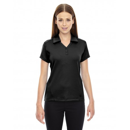 78803 North End 78803 Ladies' Exhilarate Coffee Charcoal Performance Polo with Back Pocket BLACK 703