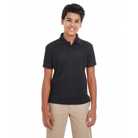 88181Y Core 365 88181Y Youth Origin Performance Pique Polo BLACK 703