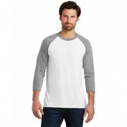 District DM136 Perfect Tri 3/4-Sleeve Raglan