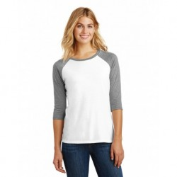 District DM136L Women's Perfect Tri 3/4-Sleeve Raglan