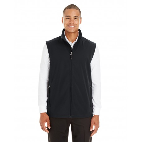 CE701 Core 365 CE701 Men's Cruise Two-Layer Fleece Bonded Soft Shell Vest BLACK 703
