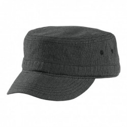 District DT619 Houndstooth Military Hat DT619