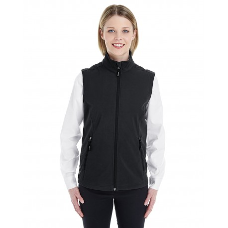 CE701W Core 365 CE701W Ladies' Cruise Two-Layer Fleece Bonded Soft Shell Vest BLACK 703