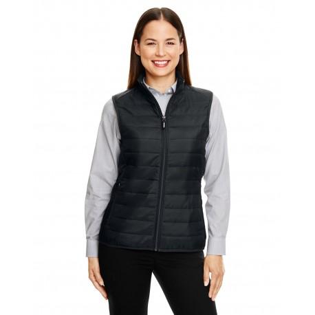 CE702W Core 365 CE702W Ladies' Prevail Packable Puffer Vest BLACK 703