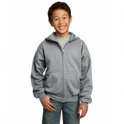 Port & Company PC90YZH Youth Core Fleece Full-Zip Hooded Sweatshirt