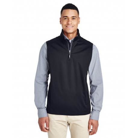 CE709 Core 365 CE709 Men's Techno Lite Three-Layer Knit Tech-Shell Quarter-Zip Vest BLACK 703