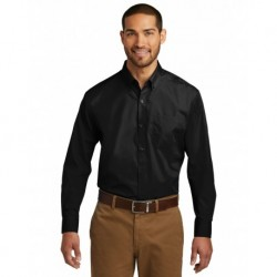 Port Authority W100 Long Sleeve Carefree Poplin Shirt