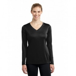 Sport-Tek LST353LS Ladies Long Sleeve PosiCharge Competitor V-Neck Tee