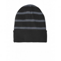 Sport-Tek STC31 Striped Beanie with Solid Band
