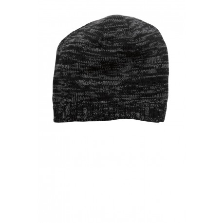 DT620 District DT620 Spaced-Dyed Beanie DT620 BLACK/CHARCOAL
