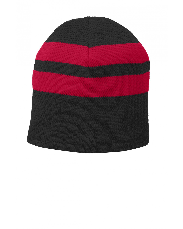 C922 Port & Company Black/Athletic Red