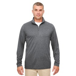 UltraClub 8618 Men's Cool & Dry Heathered Performance Quarter-Zip