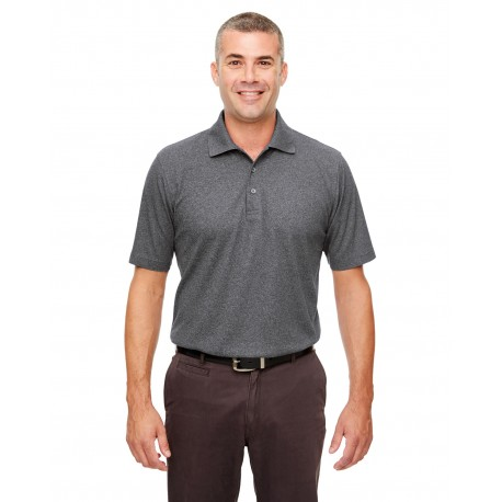 UC100 UltraClub UC100 Men's Heathered Pique Polo BLACK HEATHER