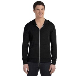 Bella + Canvas 3939 Unisex Triblend Full-Zip Lightweight Hoodie