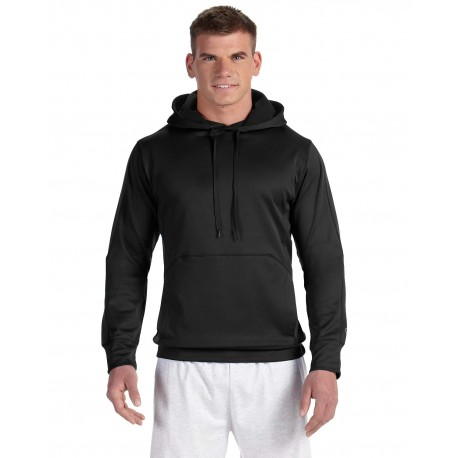 S220 Champion S220 Adult 5.4 oz. Performance Fleece Pullover Hood BLACK/BLACK