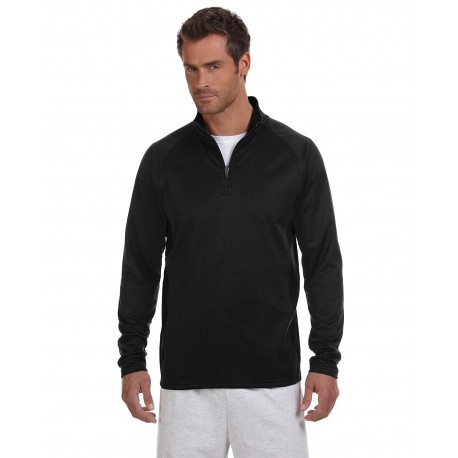 S230 Champion S230 Adult 5.4 oz. Performance Fleece Quarter-Zip Jacket BLACK/BLACK