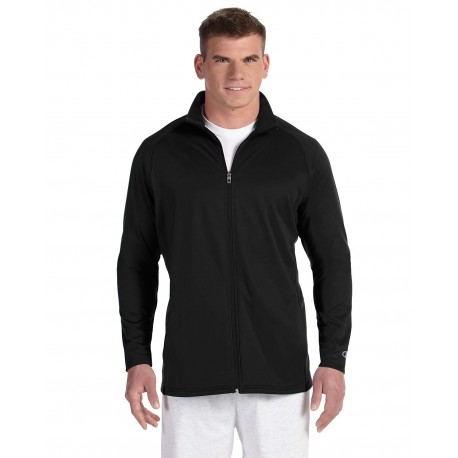 S270 Champion S270 Adult 5.4 oz. Performance Fleece Full-Zip Jacket BLACK/BLACK