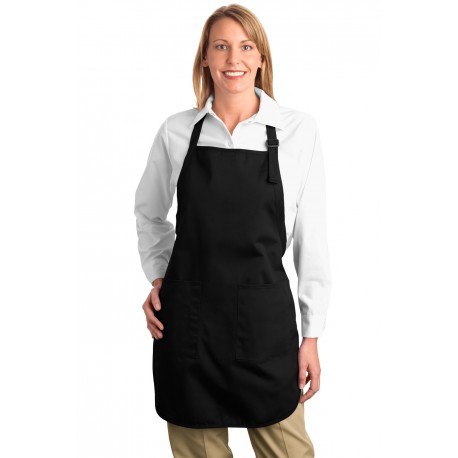 A500 Port Authority A500 Full-Length Apron with Pockets BLACK