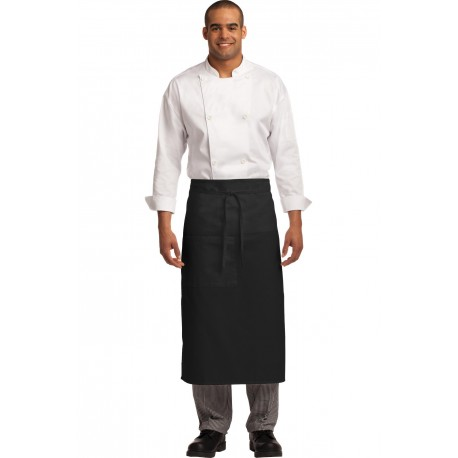 A701 Port Authority A701 Easy Care Full Bistro Apron with Stain Release BLACK