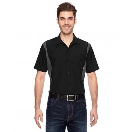 LS524 Dickies LS524 Men's 4.25 oz. Industrial Colorblock Shirt BLACK/CHARCOAL