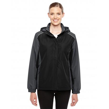 78225 Core 365 78225 Ladies' Inspire Colorblock All-Season Jacket BLACK/CRBN 703