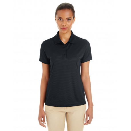 CE102W Core 365 CE102W Ladies' Express Microstripe Performance Pique Polo BLACK/CRBN 703