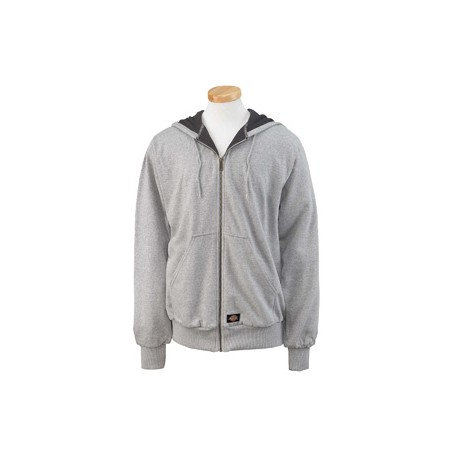 TW382 Dickies TW382 Men's 470 Gram Thermal-Lined Fleece Hooded Jacket ASH GRAY